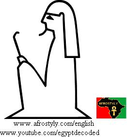 Syrian seated holding stick - A49 - Hieroglyphic Sign List of Gardiner, Medu Neter, Hieroglyphs Alphabet, Ancient Egyptian translation & transliteration